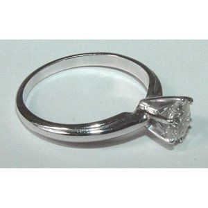 1.01 ct. diamond solitaire whit gold ring jewelry